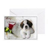 St. Bernard Christmas Greeting Cards (Pk of 10)