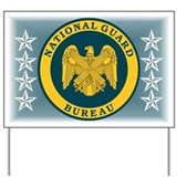 National Guard Bureau Seal Yard Sign