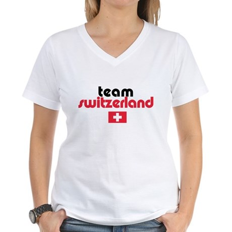 Team Switzerland Women's V-Neck T-Shirt