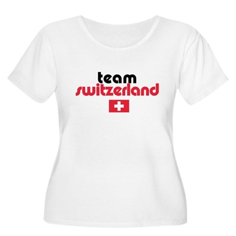 Team Switzerland Women's Plus Size Scoop Neck T-Sh