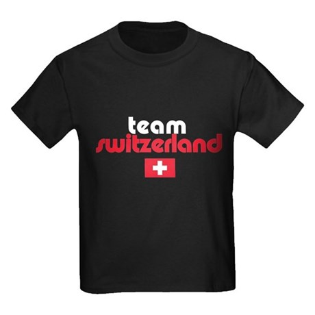 Team Switzerland Kids Dark T-Shirt