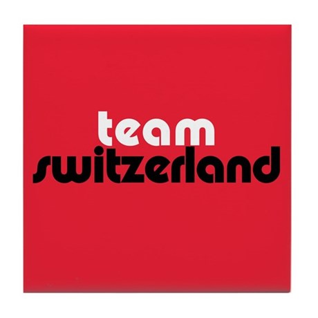 Team Switzerland Tile Coaster