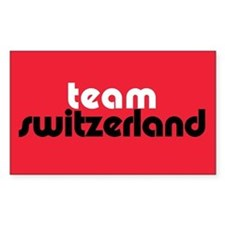 Team Switzerland Rectangle Stickers