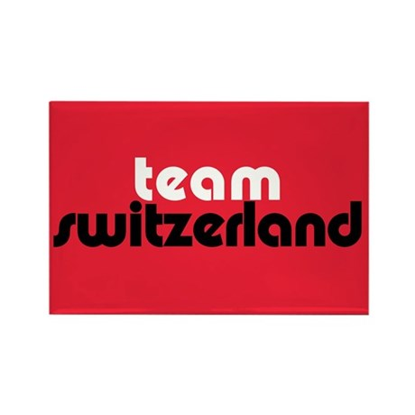 Team Switzerland Rectangle Magnet (10 pack)