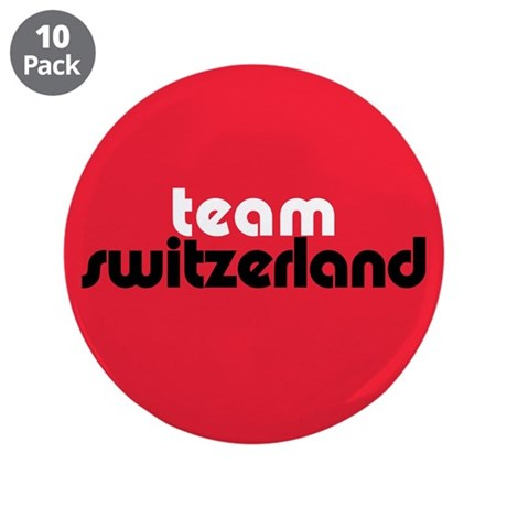 Team Switzerland 3.5&quot; Button (10 pack)
