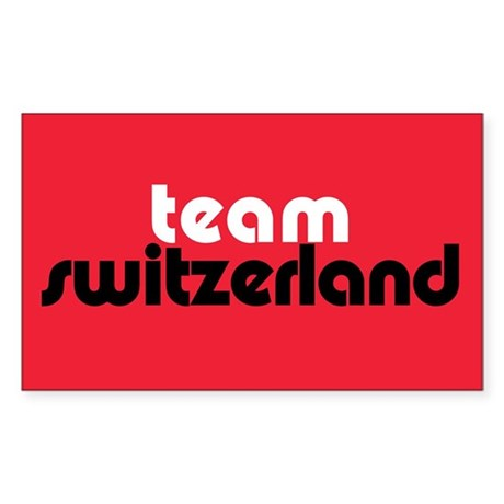 Team Switzerland Rectangle Sticker 50 pk)