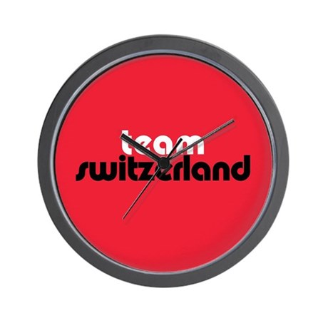 Team Switzerland Wall Clock