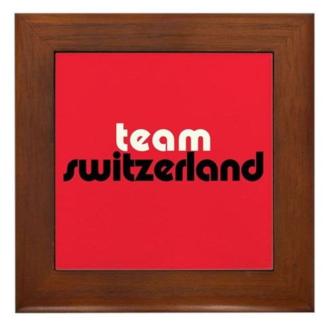 Team Switzerland Framed Tile