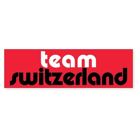 Team Switzerland Bumper Sticker (10 pk)