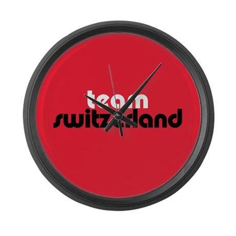 Team Switzerland Large Wall Clock