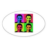 Obama Warhol Oval Decal
