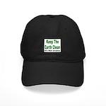 Keep the Earth Clean Black Cap