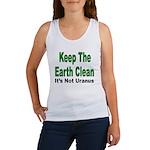 Keep the Earth Clean Women's Tank Top