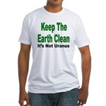 Keep the Earth Clean (Front) Fitted T-Shirt