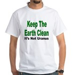 Keep the Earth Clean (Front) White T-Shirt