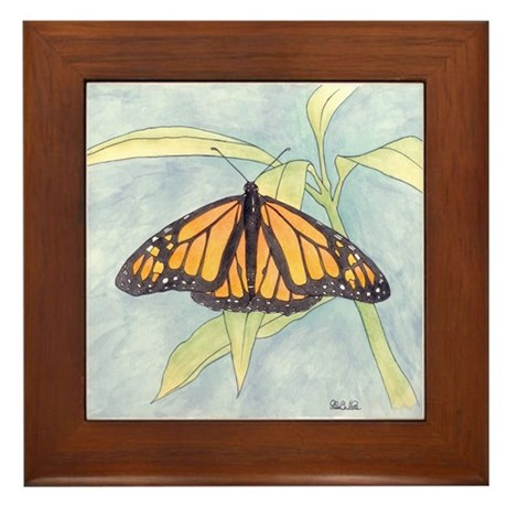 Monarch Butterfly Framed Tile