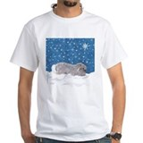 Rabbit in Winter snow Shirt