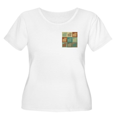 Statistics Pop Art Women's Plus Size Scoop Neck T-