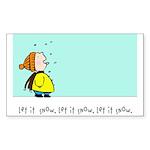 let it snow! Sticker (Rectangle 50 pk)