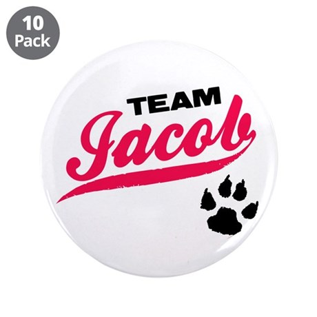 "Team Jacob Twilight 3.5"" Button (10 pack)"