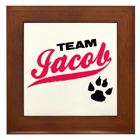 Team Jacob Twilight Framed Tile