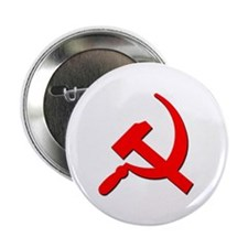 "Soviet Retro Hammer and Sickle 2.25"" Button (10 pa"