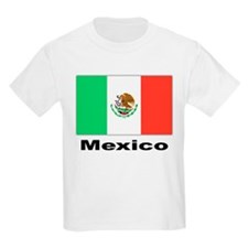 Mexico Mexican Flag (Front) Kids T-Shirt