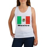 Mexico Mexican Flag Women's Tank Top