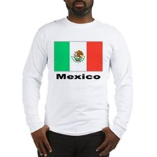 Mexico Mexican Flag (Front) Long Sleeve T-Shirt
