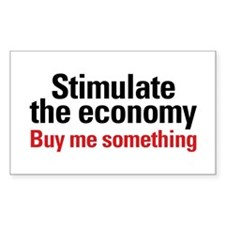 Stimulate The Economy Rectangle Sticker 50 pk)
