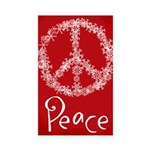 peace Sticker (Rectangle 10 pk)