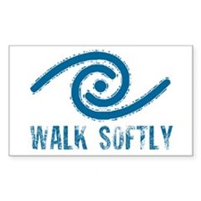 Walk Softly Rectangle Decal