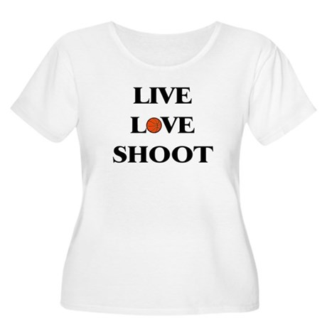 Live, Love, Shoot (Basketball) Women's Plus Size S