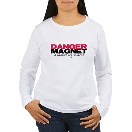Danger Magnet Edward Women's Long Sleeve T-Shirt