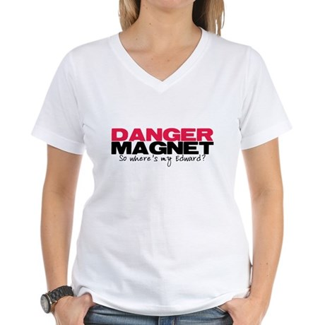 Danger Magnet Edward Women's V-Neck T-Shirt