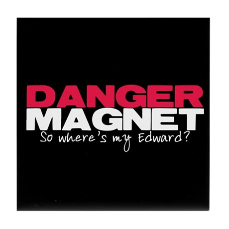 Danger Magnet Edward Tile Coaster
