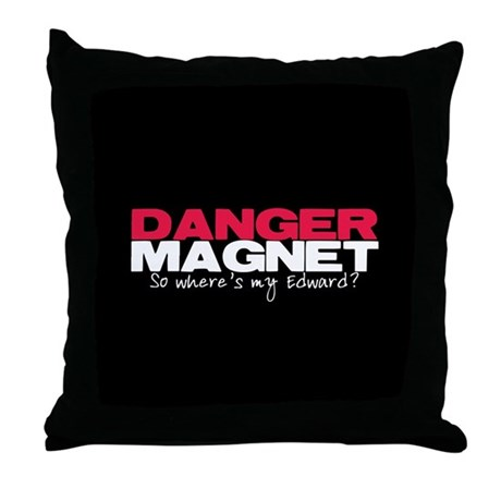 Danger Magnet Edward Throw Pillow