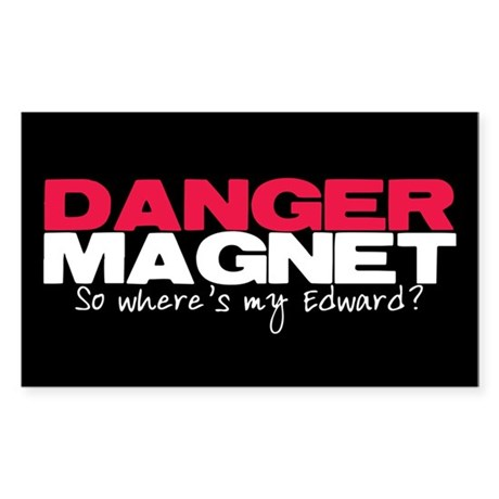 Danger Magnet Edward Rectangle Sticker 50 pk)