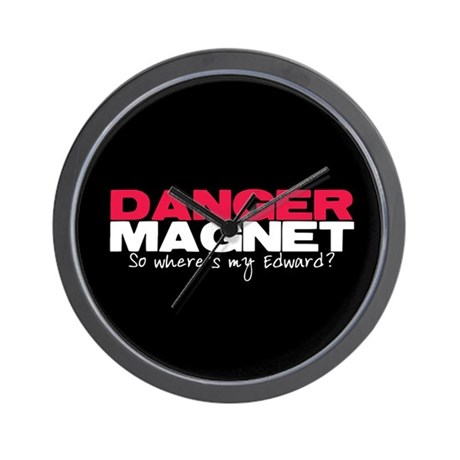 Danger Magnet Edward Wall Clock