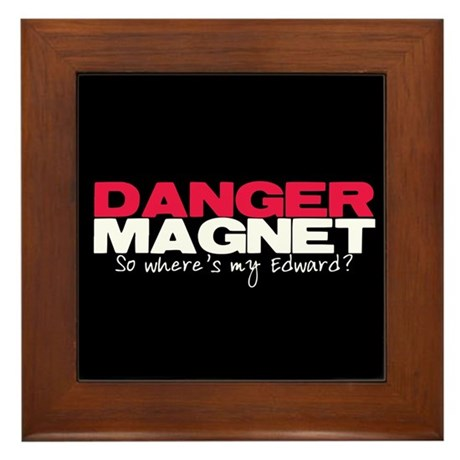 Danger Magnet Edward Framed Tile