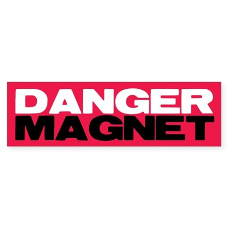Danger Magnet Edward Bumper Sticker
