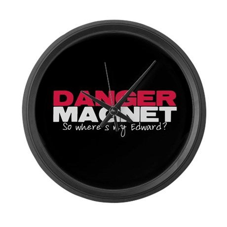 Danger Magnet Edward Large Wall Clock