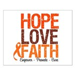 LEUKEMIA Hope Love Faith Small Poster