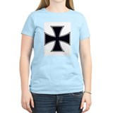 Iron Cross (Front) Women's Pink T-Shirt