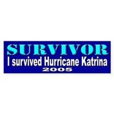 Hurricane Katrina Survivor Bumper Bumper Sticker