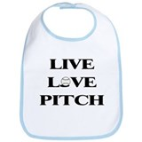 Live, Love, Pitch (Baseball) Bib