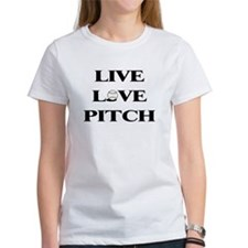 Live, Love, Pitch (Baseball) Tee