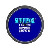 I Survived Hurricane Rita Wall Clock