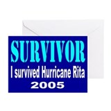 I Survived Hurricane Rita Greeting Cards (Package
