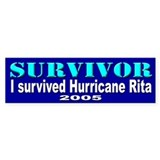 I Survived Hurricane Rita Bumper Bumper Sticker